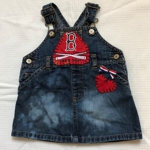 3-6 mos trimmed denim Red Sox skirtall